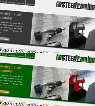 Diseño web SteelFraming.com.uy
